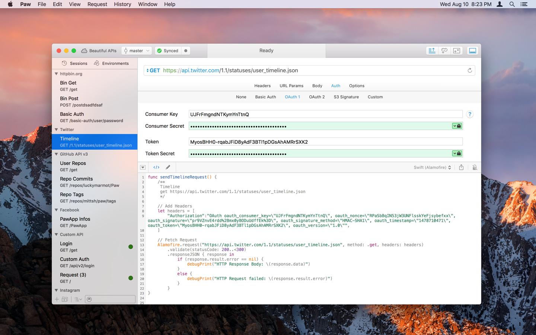 Swift + Alamofire - Screenshot