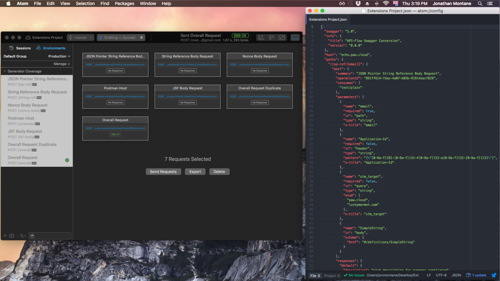 Paw Extensions   The most advanced API tool for Mac
