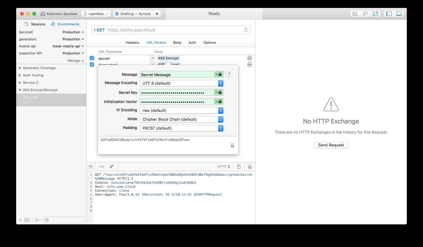 AES Encrypt - Screenshot