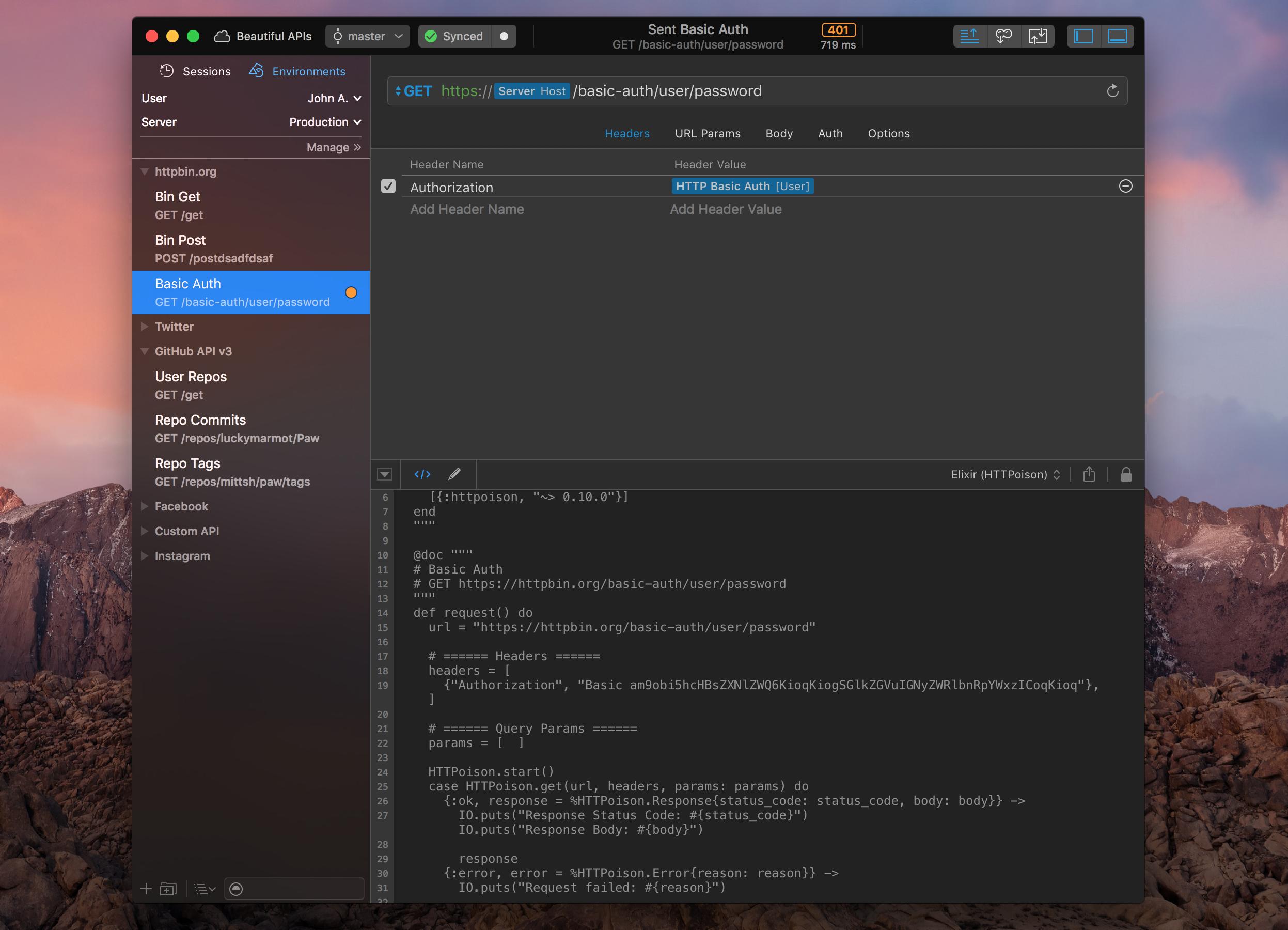 Elixir HTTPosion - Screenshot