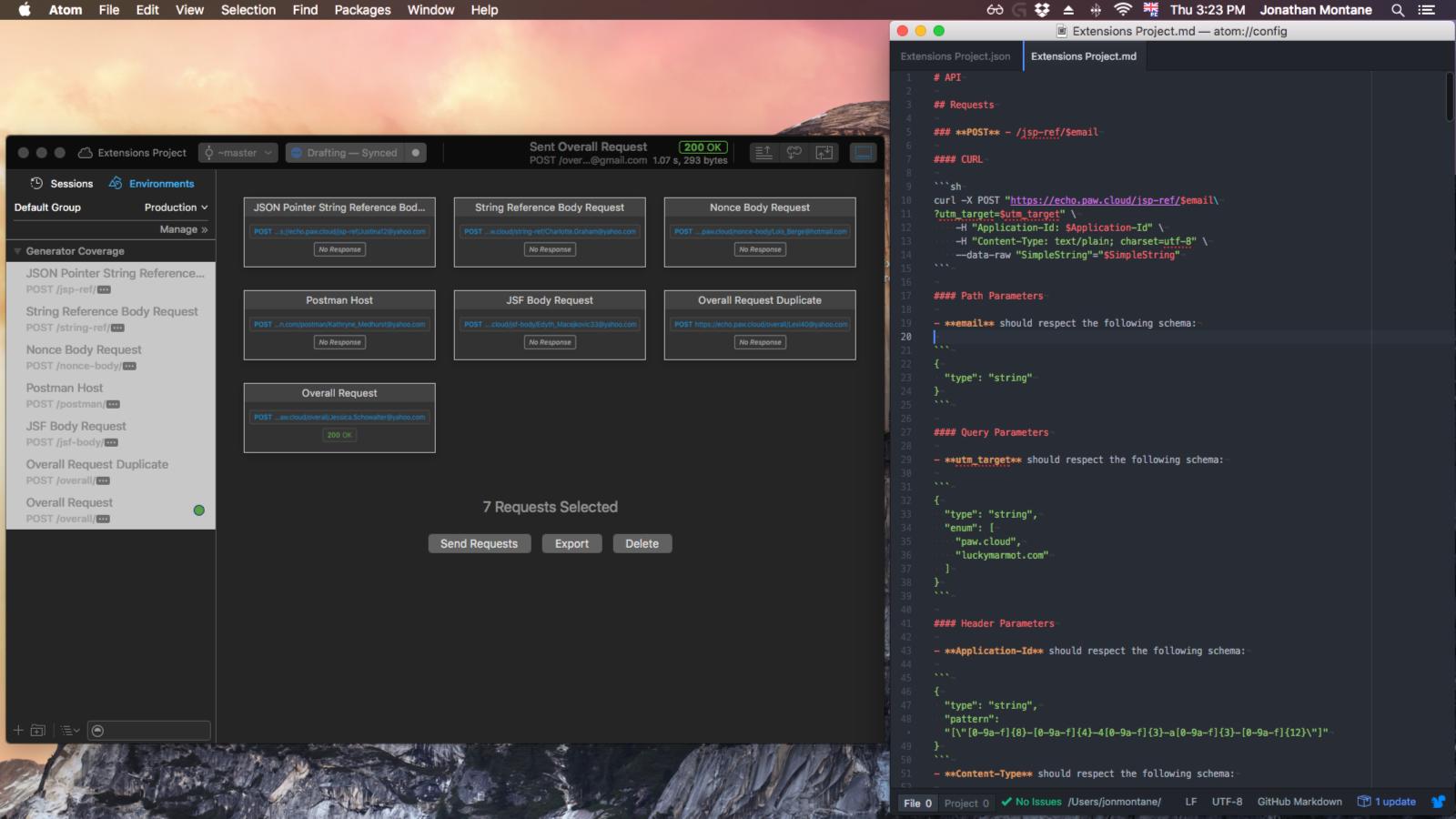Markdown + Curl - Screenshot